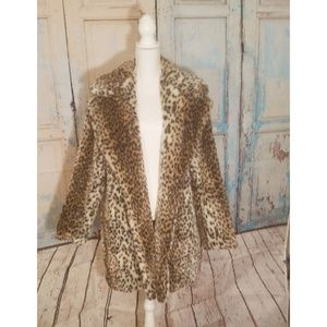 Just fab knee length fur coat size 2x